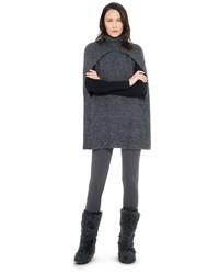Hand knitted wool alpaca sweater cape medium 423377