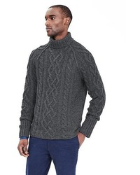 Heritage Cable Knit Turtleneck Pullover