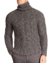 Michael Kors Michl Kors Mohair Blend Cable Turtleneck Sweater