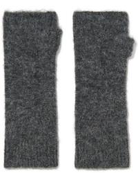 Isabel Marant Cruz Knitted Fingerless Gloves Dark Gray