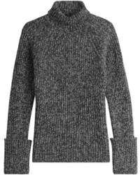 Charcoal Knit Wool Turtleneck