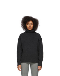 Rag and Bone Grey Wool Lunet Turtleneck