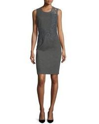 Charcoal Lace Sheath Dress