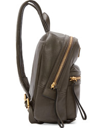 Marc by Marc Jacobs Grey Leather Third Rail Backpack | Where to ...