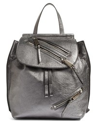 Metallic leather backpack metallic medium 963533