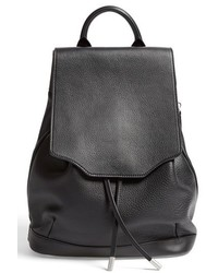Pilot leather backpack black medium 619346
