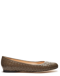 Bottega Veneta Peggy Intrecciato Leather Ballet Flats