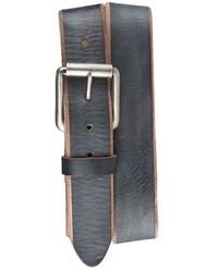 Charcoal Leather Belt