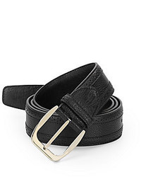 Brioni Brouged Leather Belt