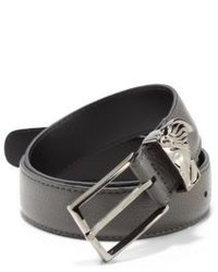 Versace Collection Medusa Logo Leather Belt