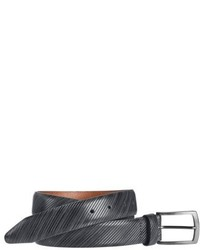 Diagonal embossed leather belt medium 5034302