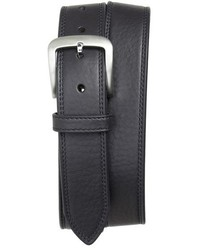 Double stitch leather belt medium 603725