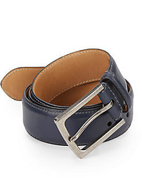 John Varvatos Textured Buckle Leather Belt