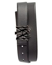 Amiri Ma Logo Leather Belt