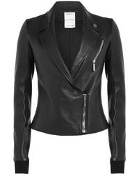 Anthony Vaccarello Leather Biker Jacket