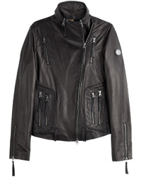 Leather biker jacket medium 528397