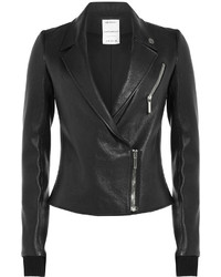 Anthony Vaccarello Leather Biker Jacket