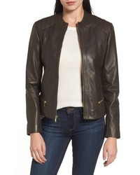 Leather moto jacket medium 4952879