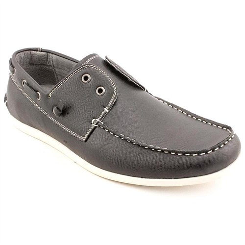 MADDEN MEN Gamer Black Boat Moc Faux Leather Boat Shoes | Where to ...