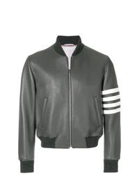 Thom Browne 4 Bar Stripe Deerskin Blouson Jacket