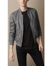 Burberry Nappa Leather Bomber Jacket