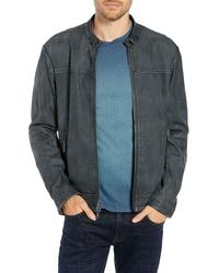 John Varvatos Star USA Regular Fit Leather Racer Jacket