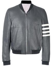 Thom Browne Leather Bomber Jacket