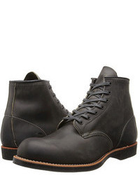 Charcoal Leather Boots