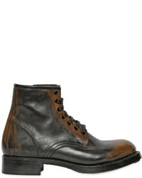 DSQUARED2 Brushed Faded Leather Ankle Boots