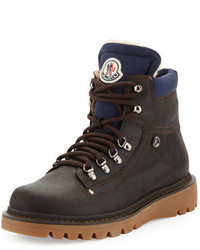 Moncler Egide Shearling Lined Hiking Boot Gray