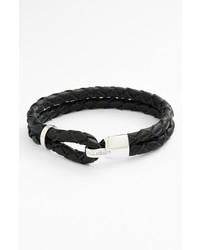 Charcoal Leather Bracelet
