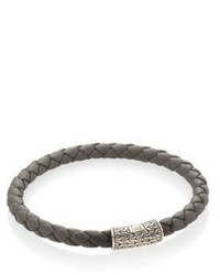 John Hardy Classic Chain Leather Sterling Silver Bracelet