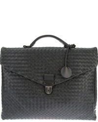 Charcoal Leather Briefcase