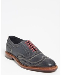 Charcoal Leather Brogues
