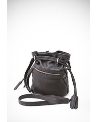 Forever 21 Faux Leather Drawstring Bucket Bag