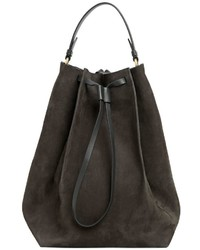 Maison Margiela Large Nubuck Leather Bucket Bag
