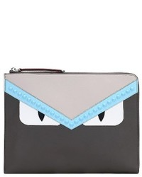 Large monster leather zip pouch grey medium 3992305