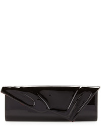 So kate patent east west clutch bag black medium 525098