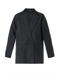 Charcoal Leather Coat