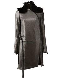 Ann Demeulemeester Metallic Zipped Coat