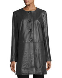 Basic long leather topper medium 4986037