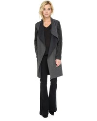 Soia & Kyo Tissia Double Face Wool Jacket In Charcoal