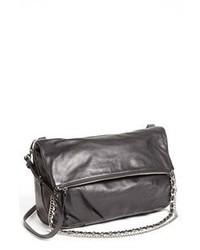Charcoal Leather Crossbody Bag