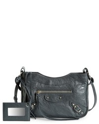 Balenciaga Hip Leather Crossbody Bag Grey
