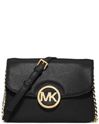 4654ad7d54e3 ... MICHAEL Michael Kors Michl Michl Kors Fulton Flap Crossbody Bag Black