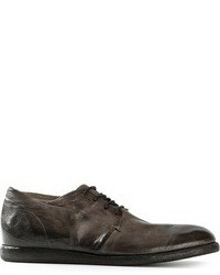 Charcoal Leather Derby Shoes