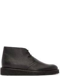 Black leather m1 desert boots medium 578984
