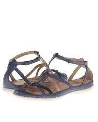 Ecco Flash Low Gladiator Sandals Denim Bluedenim Bluewarm Grey Metallicfirefly