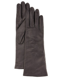 Charcoal Leather Gloves