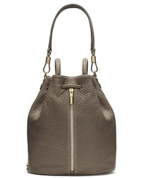 Elizabeth and James Cynnie Leather Sling Backpack Grey